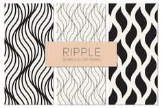 Ripple Seamless Patterns Set 3 by Curly_Pat on @creativemarket