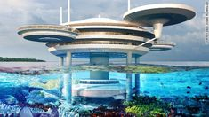 Water Discus: A UFO Shaped Partially Underwater Hotel -  [Click on Image Or Source on Top to See Full News]