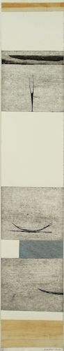 Simon Kaan, <i>2014 Untitled Scroll #21 </i>, intaglio woodcut on 710 x 125 mm paper, 1 of 1, 2014. Sold.