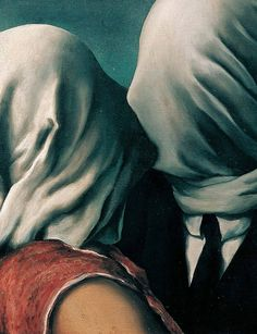 the lovers, rené magritte, 1928