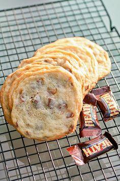 Heath bar cookies. Yum!