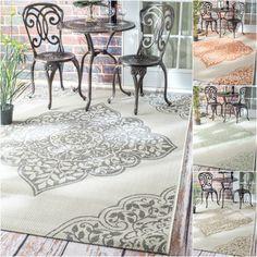 nuLOOM Modern Floral Outdoor/ Indoor Porch Rug (5'3 x 7'6) $96