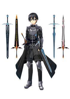 Wandering Blade Klein by Zander-V on DeviantArt Kirito Sword, Sword Art Online Kirito, Asuna, Kirito Kirigaya, Fantasy Armor, Dark Fantasy Art, Chica Anime Manga, Anime Guys, Schwertkunst Online