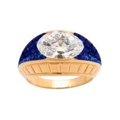 Van Cleef & Arpels Invisibly Set Sapphire Diamond Ring by   Van Cleef & Arpels