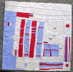 Free form patchwork mini quilt – visual creative process   Sewn Up by TeresaDownUnder tutorial.