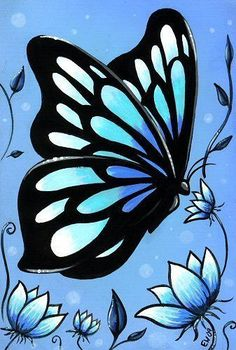 butterfly acrylic painting - Google Search