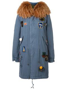 c86675f7df7341 Mr   Mrs Italy embellished parka coat Blauer Pelzmantel