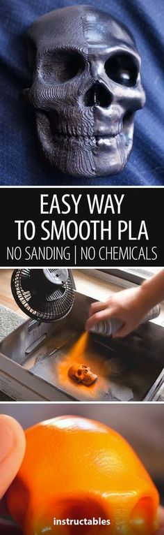 Easy Way to Smooth PLA   No Sanding   No Chemicals