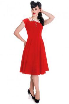 Hell Bunny Vintage 50s Emilie Dress Red