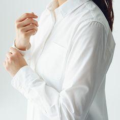 シャツ | 無印良品ネットストア Chef Jackets, Tops, Women, Fashion, Moda, Fashion Styles, Fashion Illustrations, Woman