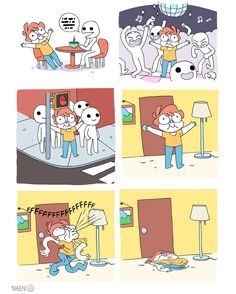 This is how we live nowadays - Selina Shen Comics, Owlturd Comix, Funny Images, Funny Pictures, 4 Panel Life, Excuse Moi, Life Comics, Funny Comic Strips, Haha Funny