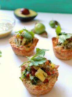 Baked Huevos Rancheros w/ Pineapple Salsa & Parmesan Avocado Cream | Udi's® Gluten Free Bread