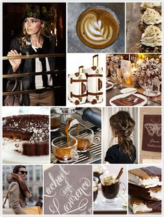 haute cocoa, monochromatic monday, coffee, luggage, table setting, fall, rich brown hues, expresso, chocolate, invitations, winter #camillestyles