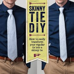 Sewing Clothes For Men Transform your standard necktie into a skinny tie with this simple DIY Nike Air Max Ltd, Nike Shox, Diy Fashion, Mens Fashion, Diy For Men, Shirt Refashion, Altering Clothes, Sharp Dressed Man, Skinny Ties