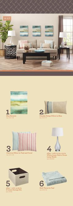 Add color and flair to your home with a versatile array of wall art, throw pillows, blankets, curtains, and lamps. Select accessories that complement your existing favorites. Click through for style tips & tricks from our allen + roth design experts.