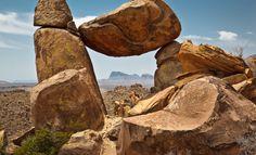 The Balanced Rock Big Bend National Park TX USA