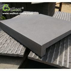 Hainan Dark Grey Basalt Swimming Pool Coping Tile Straight Edge