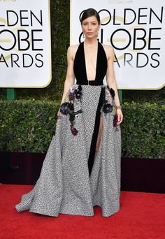 Golden Globes 2017: The Best Dressed Celebrities From the Red Carpet - Jessica Biel in Elie Saab