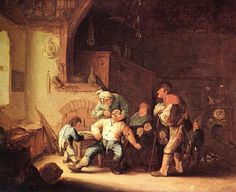 Adriaen van Ostade (Dutch, 'Barber Extracting of Tooth', 1673 Vienna Museum, Kunsthistorisches Museum Wien, Wall Art Prints, Canvas Prints, Art Folder, Muse Art, Classic Paintings, Canvas Pictures, Museum Of Fine Arts