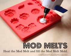 COOL new product! Faux resin -- Mod Melts for Mod Podge! DIY your own embellishments!