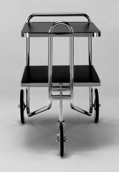 A favorite of modernist collectors, our Marcel Breuer tea cart (model first appeared in the form of a prototype in a photograph.