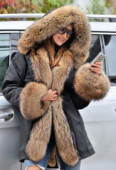 NEW 2016 MILITARY PARKA COAT HOOD FOX FUR CLAS SABLE MINK CHINCHILLA JACKET VEST   eBay