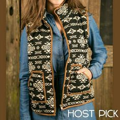 ⏩COZY TRIBAL PRINT PUFFY VEST⏪ ⏩Puffy vest ⏩Tribal print style ⏩Two pockets on the  front ⏩Zips up the  front ⏩100% Polyester  ⏩So soft & cozy ⏩True to size😄🙌👌💖😆💃🌻👍🙋😙❤✌ BOTIQUE  Jackets & Coats Puffers