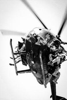 US Army Rangers deploying from a MH-6 Little Bird (aka the Killer Egg)