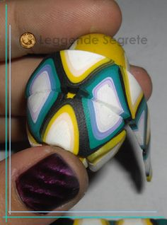 Polymer Clay Tutorial Old Fabric Harlequin Bead by LeggendeSegrete, $10.00