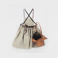 Linen Dress Toddler Pinafore Dress Made of 100% by moonroomkids
