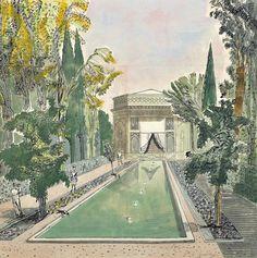 Edward Bawden (British, 1903-1989), Pars Museum, Shiraz, 1966.