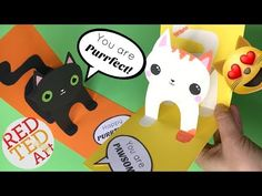 Easy 3D Cat Pop Up Card DIY - Birthday Card DIY - Valentine's Day DIY - Christmas Card DIY - YouTube