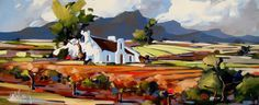 Artwork of Carla Bosch exhibited at Robertson Art Gallery. Original art of more than 60 top South African Artists - Since Decoupage, South African Artists, Fauvism, Cool Paintings, Landscape Art, Painting Inspiration, Impressionism, Original Art, Art Gallery