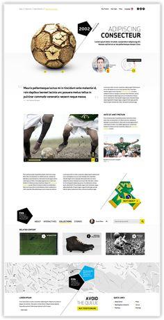 FIFA WORLD FOOTBALL MUSEUM by Marc-André Dandurand, via Behance