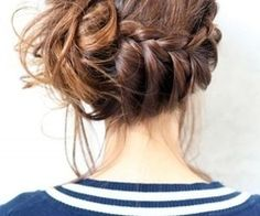 Hair / braided messy bun