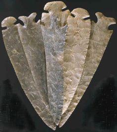6.5 In. Tallahatta Pickwick found in Choctaw Co., AL Tallahatta quartzite Point found by Rex Anderson near Meri...