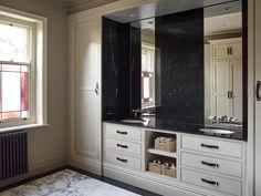 The Industrialists Cloakroom - Brownlow Furniture Bathroom Door Handles, Bathroom Doors, Cabinet Handles, Bathrooms, Built In Vanity, Wall Mounted Taps, Marble Floor, Cupboard Storage, Bespoke Furniture