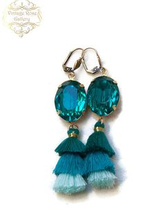 Aqua Tassel Earrings, Boho Tassel Earrings, Boho Chic Earrings , Bridesmaid Gift by VintageRoseGallery Boho Jewellery, Tassel Jewelry, Etsy Jewelry, Tassel Earrings, Etsy Earrings, Handmade Jewelry, Fine Jewelry, Jewelry Making, Unique Jewelry