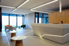 Interesting use of lighting within the reception area