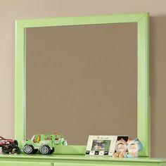 Hokku Designs Spectrum Rectangular Dresser Mirror Color: Pistachio Green