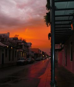 A beautiful sunset with a bonus rainbow, French Quarter, New Orleans