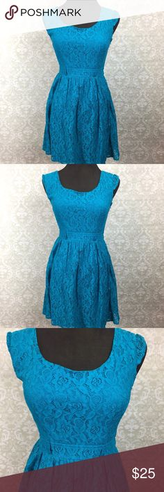 ☂️Love Reign Cerulean Floral Eyelet Layer Dress Love Reign 5 NWT Juniors Cerulean Floral Eyelet Layer Flare Dress  Absolutely cute to wear out and about in spring and summer.  Has belt rings to attach a cute belt.  No belt included.  This is new with tags.  This has never been worn. Please refer to photos for more details. Love Reign Dresses