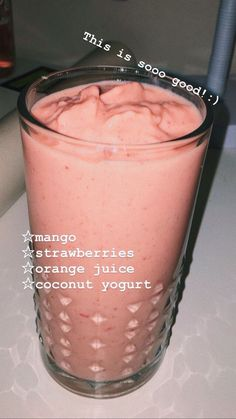 Mango Smoothie Recipes Ripe mango and pineapple combined in a lip smacking fresh. - Mango Smoothie Recipes Ripe mango and pineapple combined in a lip smacking fresh fruit smoothie is a marriage made in heaven that is blessed with lots of health be… - Mango Pineapple Smoothie, Mango Smoothie Recipes, Yummy Smoothies, Smoothie Drinks, Yummy Drinks, Healthy Drinks, Mango Fruit, Mango Recipes, Dinner Smoothie