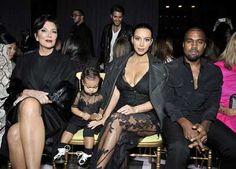 La famille Kardashian au défilé Givenchy #FashionWeekParis #Kardashian #KimKardashian #KanyeWest #NorthWest #star #fashion #Givenchy #défilé  http://fashions-addict.com/La-famille-Kardashian-au-defile-Givenchy_408___14975.html