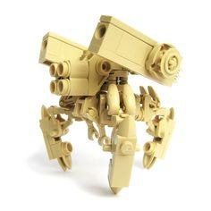 'Ikoto' LEGO gunner mech by Fredo Houben Robot Lego, Lego Bots, Lego Duplo, Legos, Aniversario Star Wars, Lego Machines, Lego Design, Block Design, Micro Lego