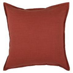 """Rizzy Home Solid Decorative Toss Pillow - Paprika (20""""x 20"""")"""
