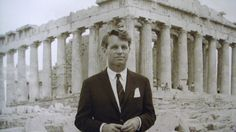 Robert Kennedy in Athens Acropolis, around the Rare Photos, Old Photos, Vintage Photos, Friends And Company, Parthenon Athens, Greece Photography, Athens Greece, Ancient Greece, Military History