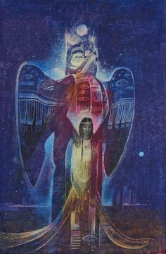 Susan Seddon Boulet - Animal Spirits, Totem, alias Guardian spirit, via Donna Loring Power Animal, Native Art, Mystical Art, Fantasy Art, Shaman, Painting, Spirited Art, Visionary Art, Original Art