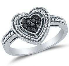 925 Sterling Silver Black Round Diamond Engagement Ring – Channel Set Heart Center Setting Shape (1/4 cttw.)	by Sonia Jewels - See more at: http://blackdiamondgemstone.com/colored-diamonds/jewelry/wedding-anniversary/engagement-rings/size-8-925-sterling-silver-black-round-diamond-engagement-ring-channel-set-heart-center-setting-shape-14-cttw-com/#sthash.BuF45MVa.dpuf