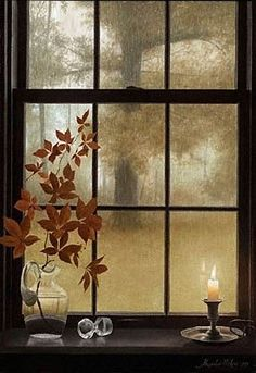 Beautiful autumn window